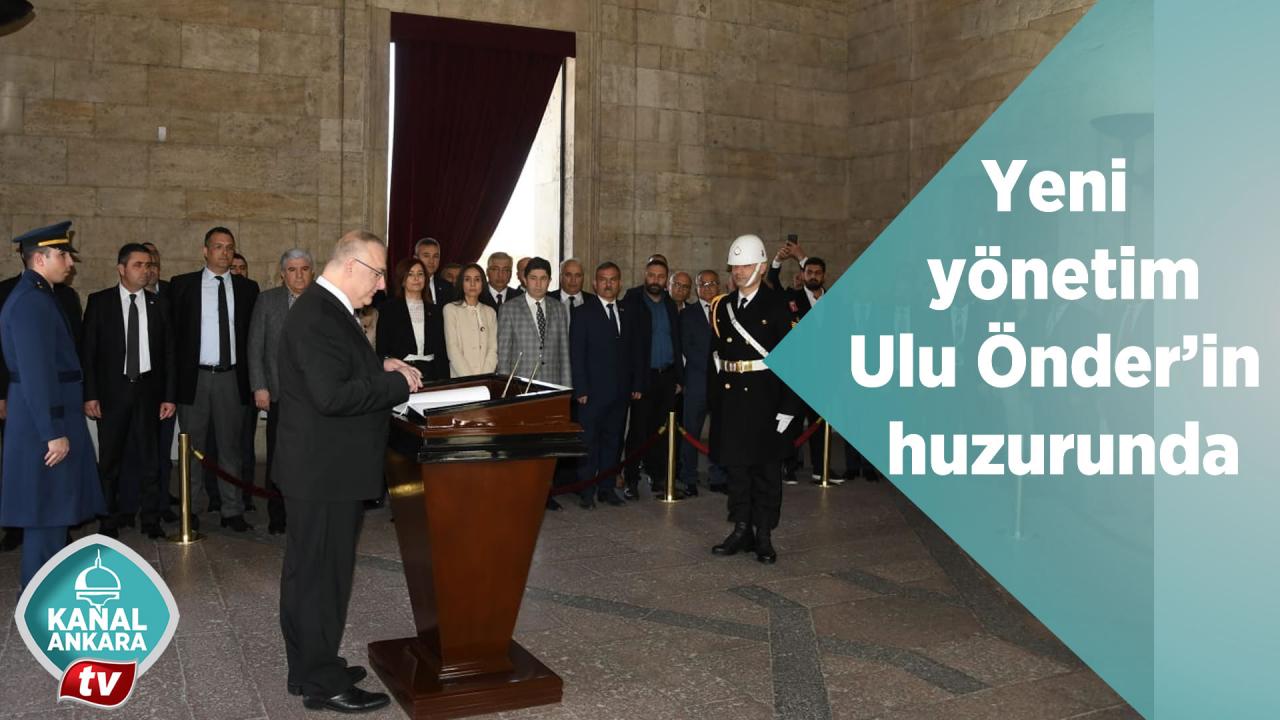 Yeni yönetim Ulu Önderin huzurunda