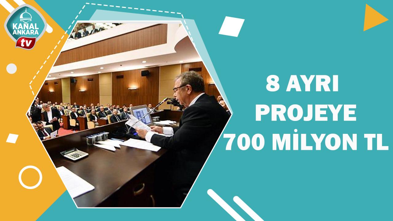 Sekiz projeye 700 milyon tl